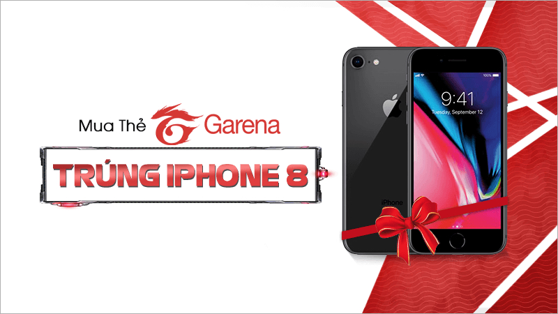 Mua thẻ Garena, trúng iPhone 8
