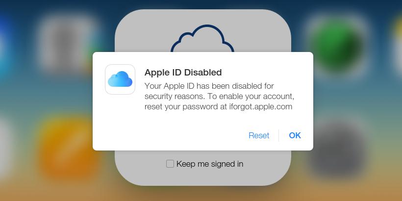 Phải làm gì khi Apple ID bị vô hiệu hóa?
